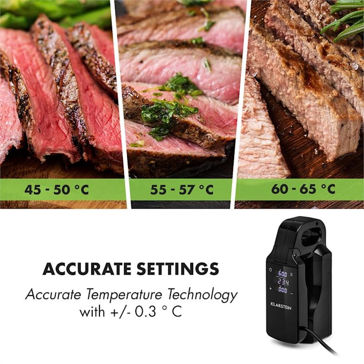 Quickstick Free Sous Vide Stick 0-95 °C LCD-Touch-Display schwarz
