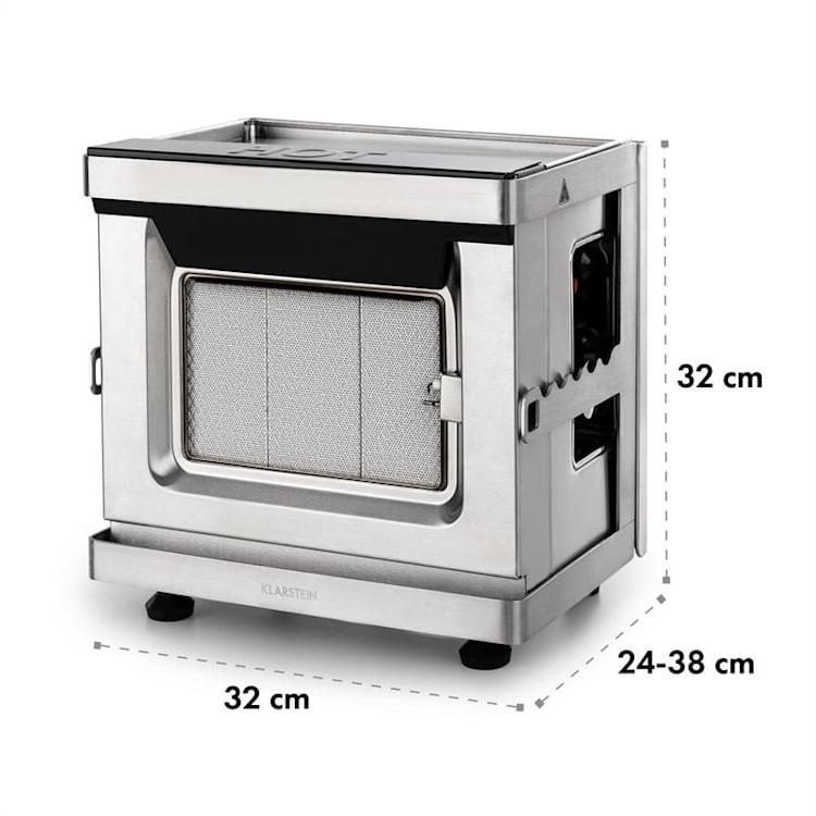 Crossfire, grătar vertical pe gaz, cu infraroșu, 800 ° C, 12 000 BTU, argintiu
