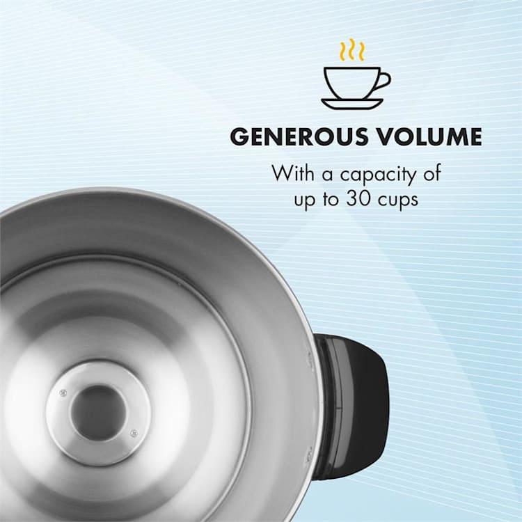 Excelsa, aparat za kavo z okroglim filtrom, 30 skodelic kave, odcejalna pipa, inoks jeklo