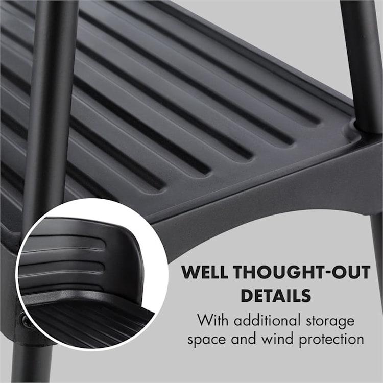 KKlarstein Porterhouse elektrische bbq 2200W anti-aanbaklaag zwart