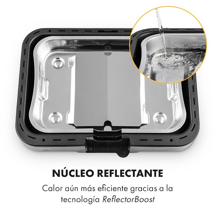 Grillkern Parrilla eléctrica 1900+800 W Elemento calefactor doble ReflectorBoost