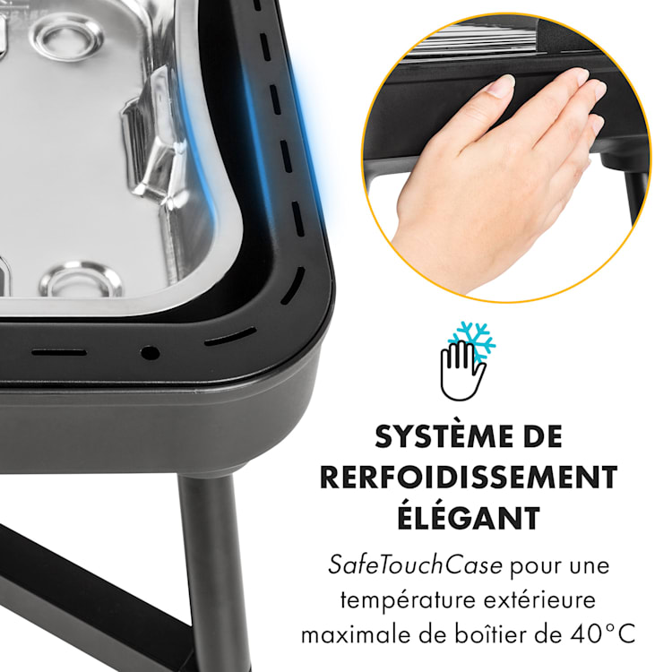 Grillkern Barbecue grill électrique sur pied 1900W + 800W ReflectorBoo