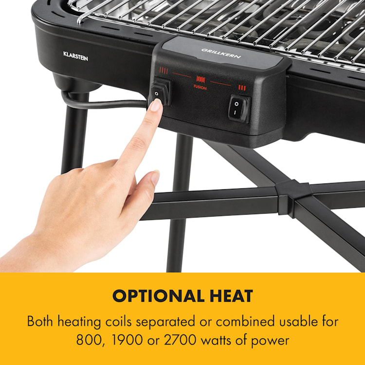 Grillkern Electric Grill 1900 + 800W Double Heating Element ReflectorBoost