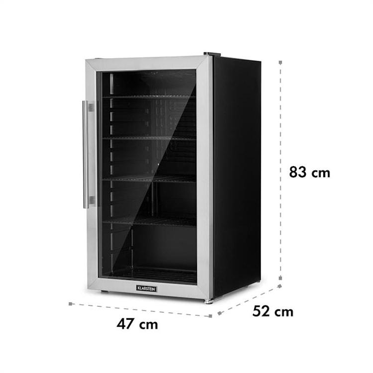 Beersafe 3XL kylskåp 98 l 4 hyllor 7 steg svart