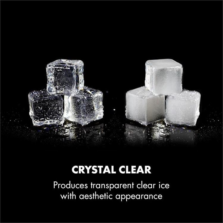 Clearcube Eiswürfelmaschine Klareis 13kg/24h Edelstahl schwarz