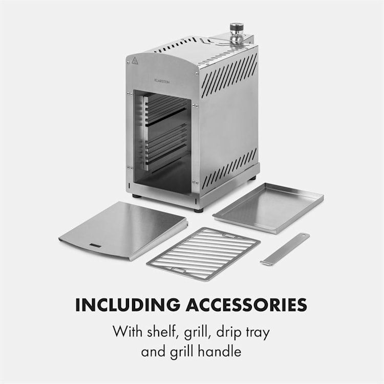 Downfire Gasgrill 3500W Top-Infrarotbrenner 800°C silber