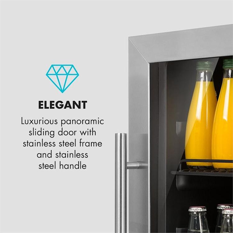 Beersafe XXL, chladnička na nápoje, 148 l, A +, sklo, ušlechtilá ocel 148 litrů