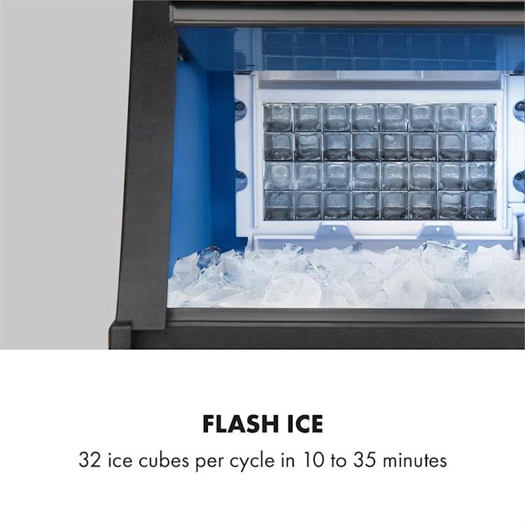 Glacial machine à glaçons professionnelle 28 kg / j 16 l bleu LED acier inoxydable noir Galcial - 28 kg/j