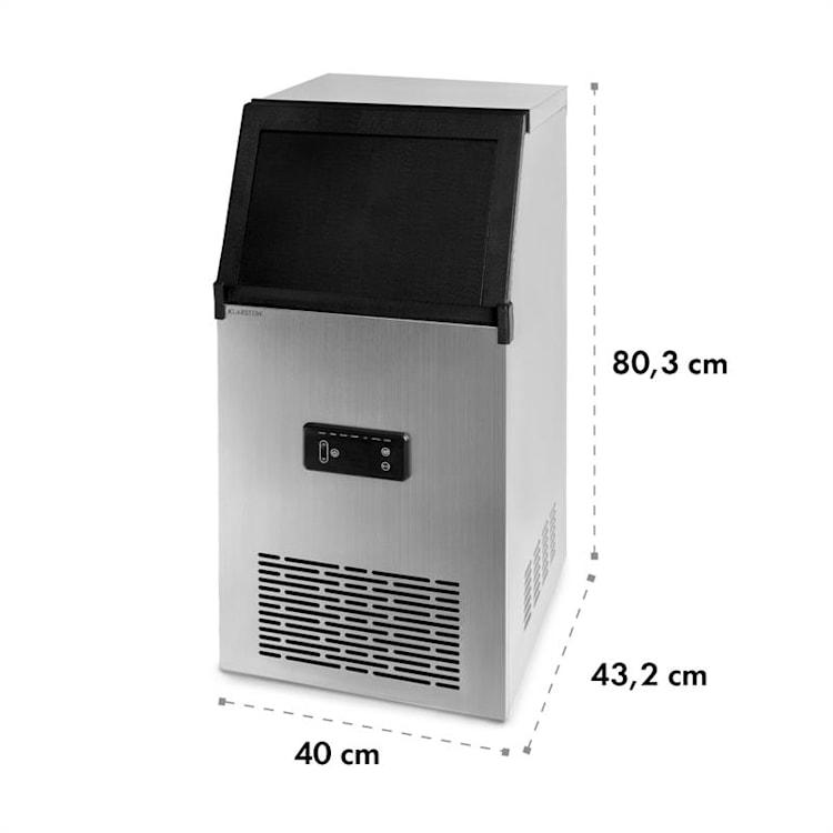 Glacial XL machine à glaçons professionnelle 38 kg / j 15 l bleu LED acier inoxydable noir Glacial XL - 38 kg/j