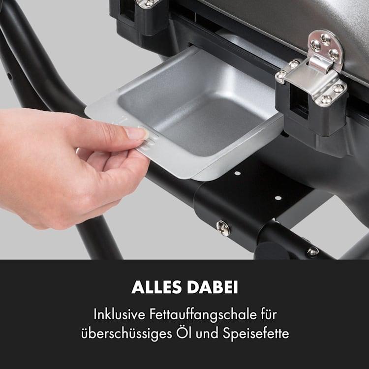 Tafelspitz Elektrogrill 2000/2400 W Antihaftbeschichtung faltbar mobil