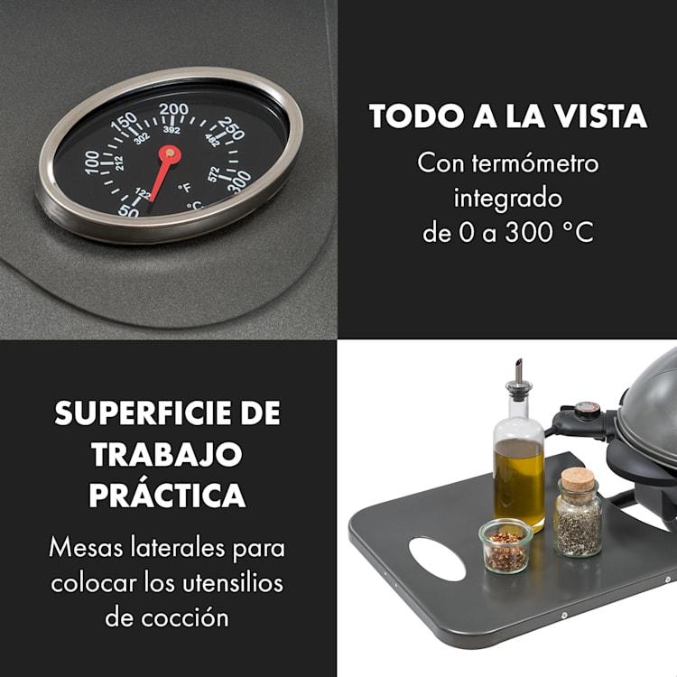 Tafelspitz Parrilla eléctrica 2000/2400 W Recubrimiento antiadherente Plegable Móvil