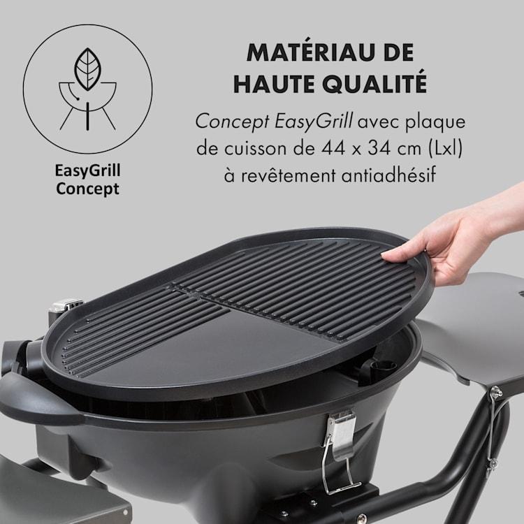 Tafelspitz Barbecue électrique pliable 2000/2400 W revêtement antiadhésif