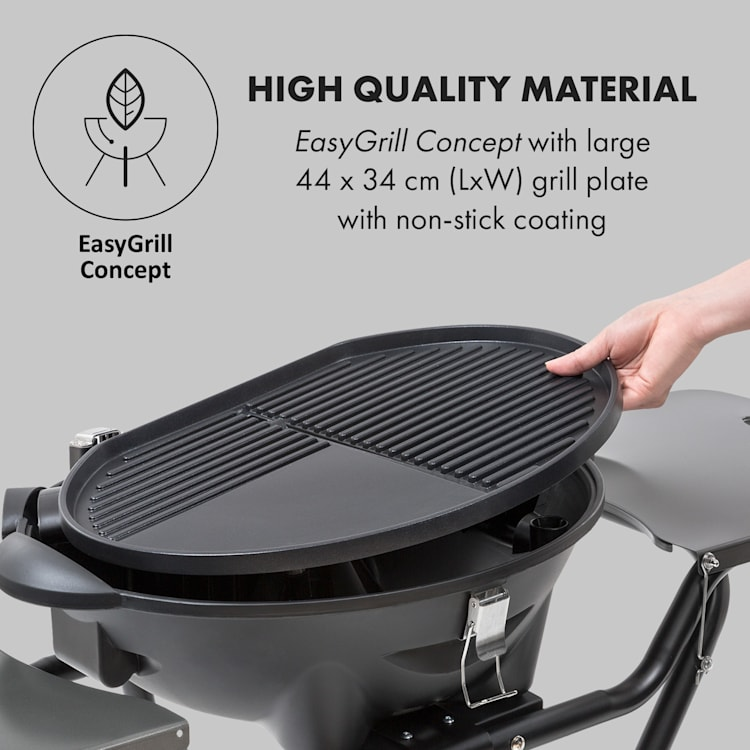 Tafelspitz Electric Grill 2000/2400 W Non-Stick Coating Foldable Mobile