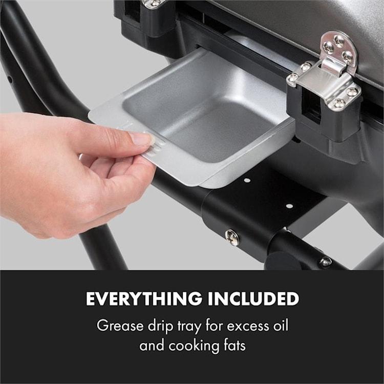 Tafelspitz elektrische barbecue 1600W anti-aanbaklaag vouwbaar mobiel
