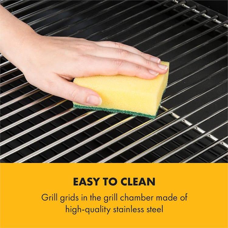 Beef Brisket Smoker Grill | Holzkohlegrill/Smoker | rostfreie Grillroste aus Edelstahl | Thermometer im Deckel | 2 große Räder