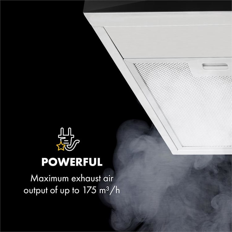 Contempo, kuhinjska napa, 60 cm, 175 m³/h, nehrđajući čelik, akril Srebro