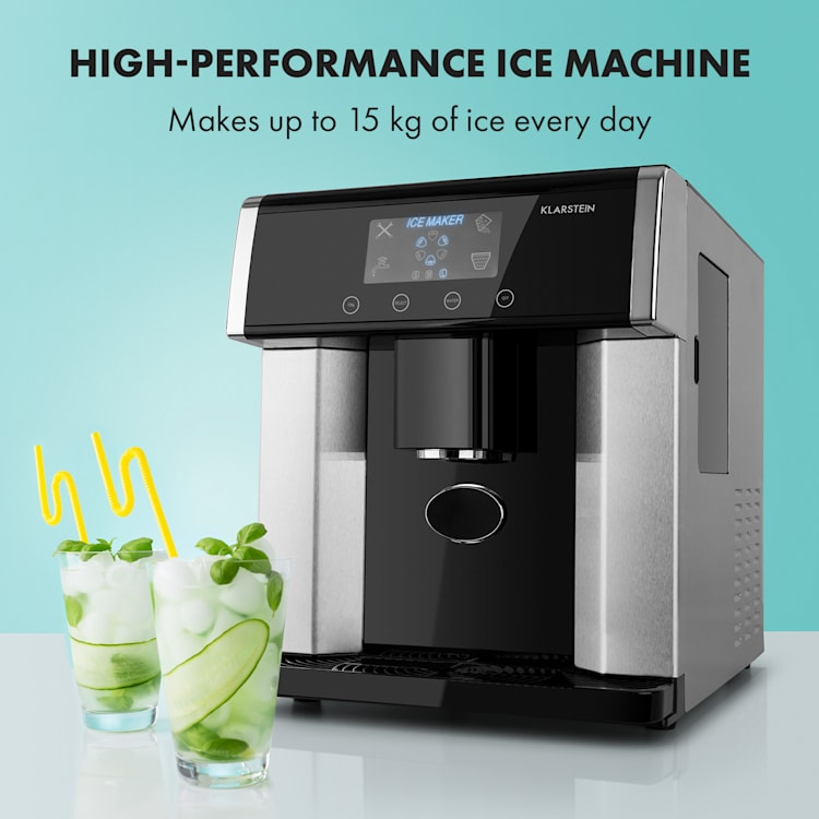Eiszeit Ice Cube Machine Stainless Steel 3 Ice Cube Sizes Silver