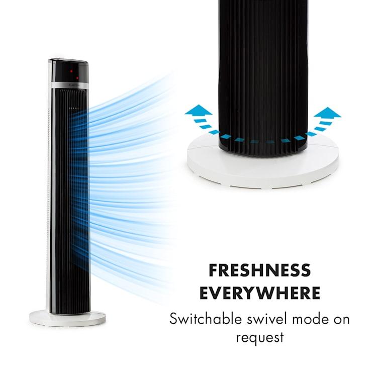 IceTower, ventilator, 3 moduri de control cu temporizator, telecomandă, timer, alb