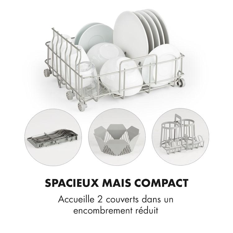 Amazonia mini lave-vaisselle 6 programmes écran LED Noir