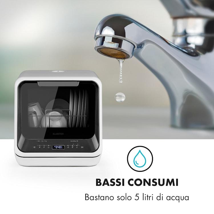 Amazonia Mini lavastoviglie 6 programmi display a LED Nero
