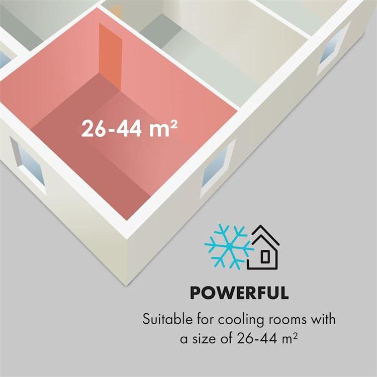 Ion Breeze, mobilná klimatizácia, 9000 BTU/h, 410 m³/h max., 16 - 32 °C, biela