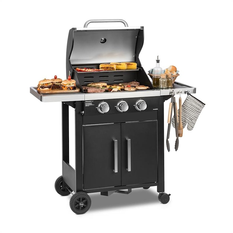 Tomahawk 3.0 T Gas Grill 3 x 3.2 kW Burner 53x39cm Grill Stainless Steel 3 burners