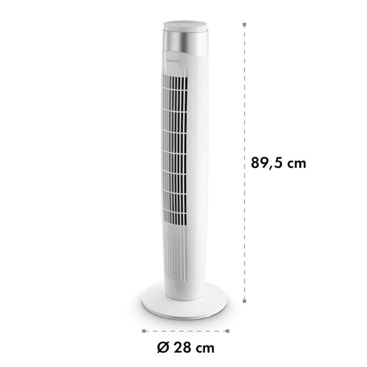 Storm Tower ventilateur 3 types de vent 55 W 6 vitesses blanc Blanc