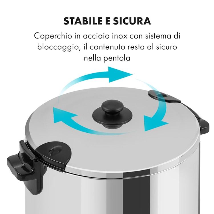 KonfiStar 50 Pastorizzatore Distributore Bevande 50L 110°C 120min Inox 50 Ltr