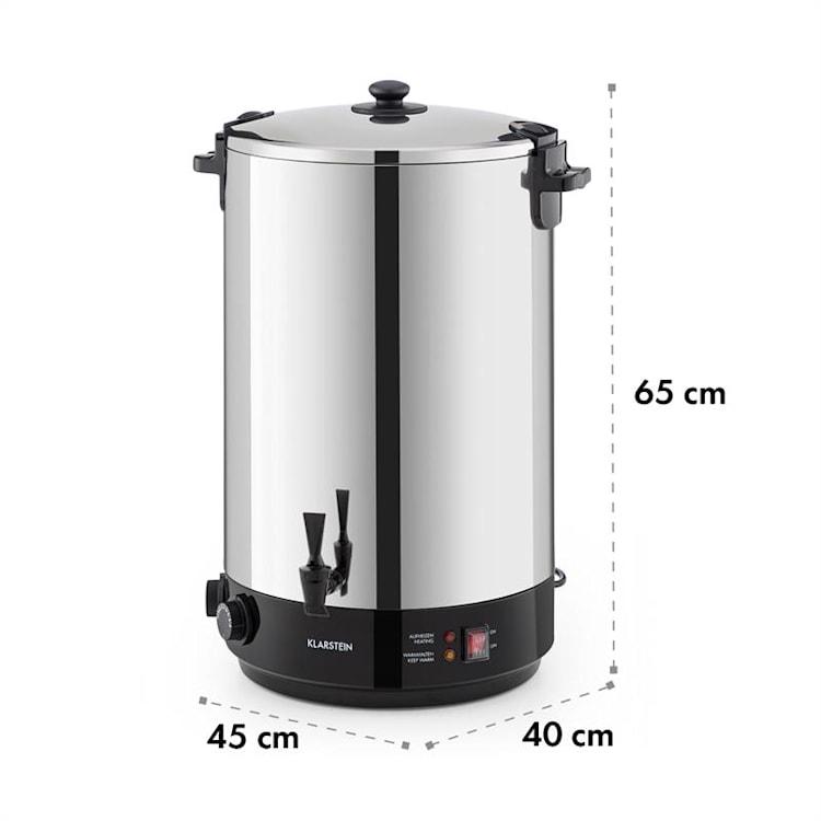 KonfiStar 50, Fierbator și aparat de conservare, distribuitor de băuturi fierbinți, 50 l, 110 ° C, 120 min, oțel inoxidabil 50 Ltr