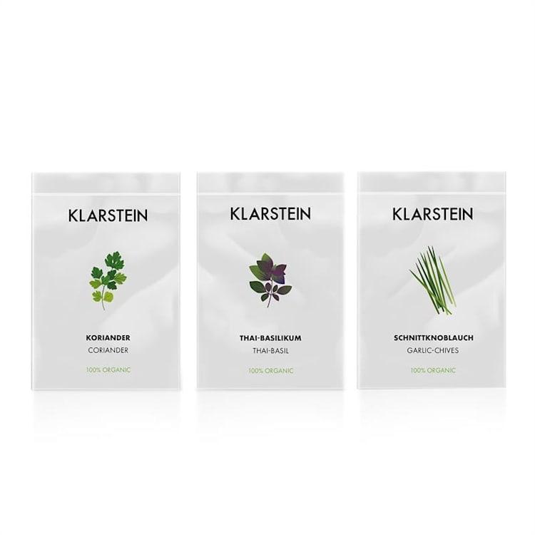 GrowIt Seeds Asia, 3 balíčky semien: koriander, bazalka thajská, cesnaková pažítka