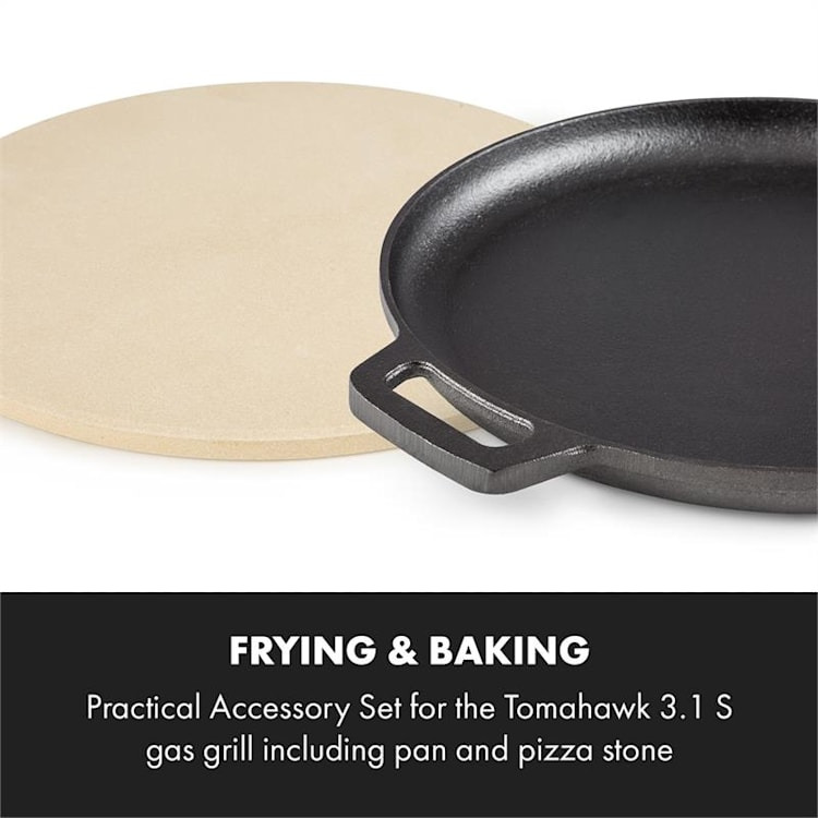 Tomahawk 3.1 S, sütő- és grillkészlet, serpenyő, pizzakő, Ø 29 cm