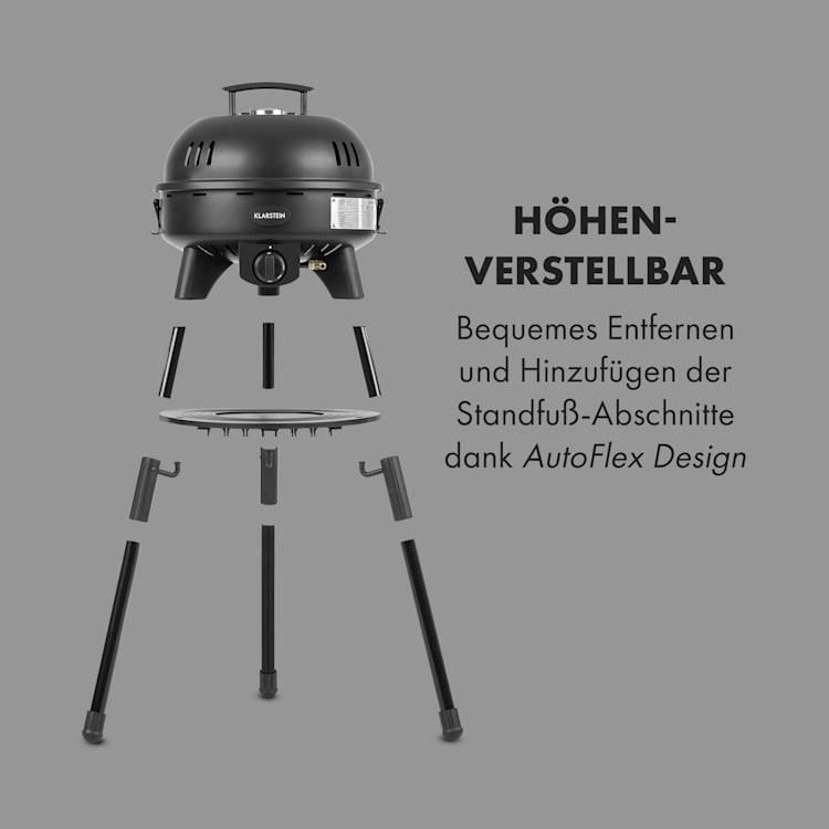 Black Hawk BBQ Gasgrill 4 kW 47 cm Ø 50 - 400 °C SnapJetIginition