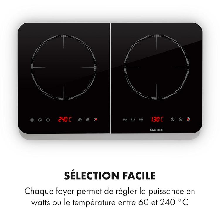 InnoChef inductiekookplaat 3400W Touch Control glaskeramiek zilver Zilver