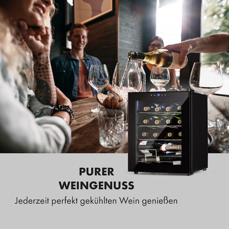 Shiraz Weinkühlschrank 42l Touch-Bedienfeld 131W 5-18°C schwarz 42 Liter/16 Flaschen