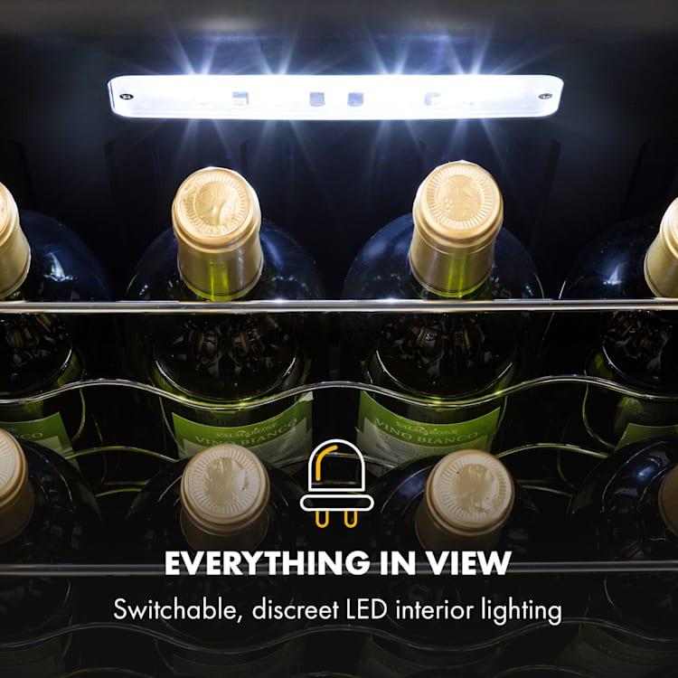 Shiraz Wine Refrigerator 42l Touch Panel 131W 5-18 ° C Black 42 litres / 16 bottles