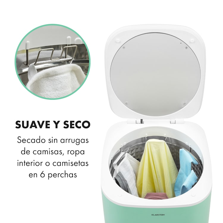 Zap Dry Secadora de ropa 820W 50l Panel de control táctil Pantalla led Verde Verde
