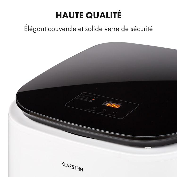 Zap Dry sèche-linge 820 W 50 l panneau de commande tactile voyants LED  blanc/noir Blanc