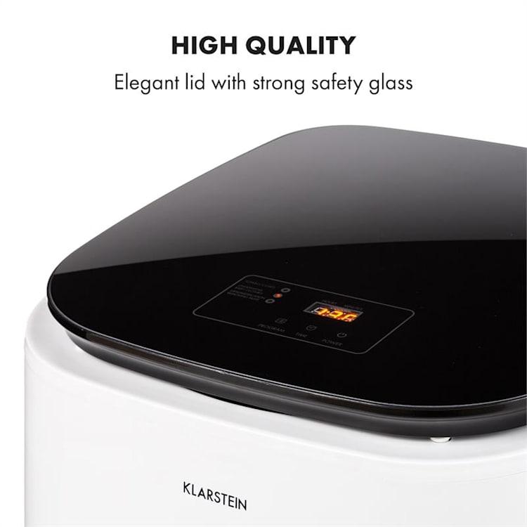 Zap Dry, sušička prádla, 820 W, 50 l, dotykový ovládací panel, LED, bílá/černá Bílá