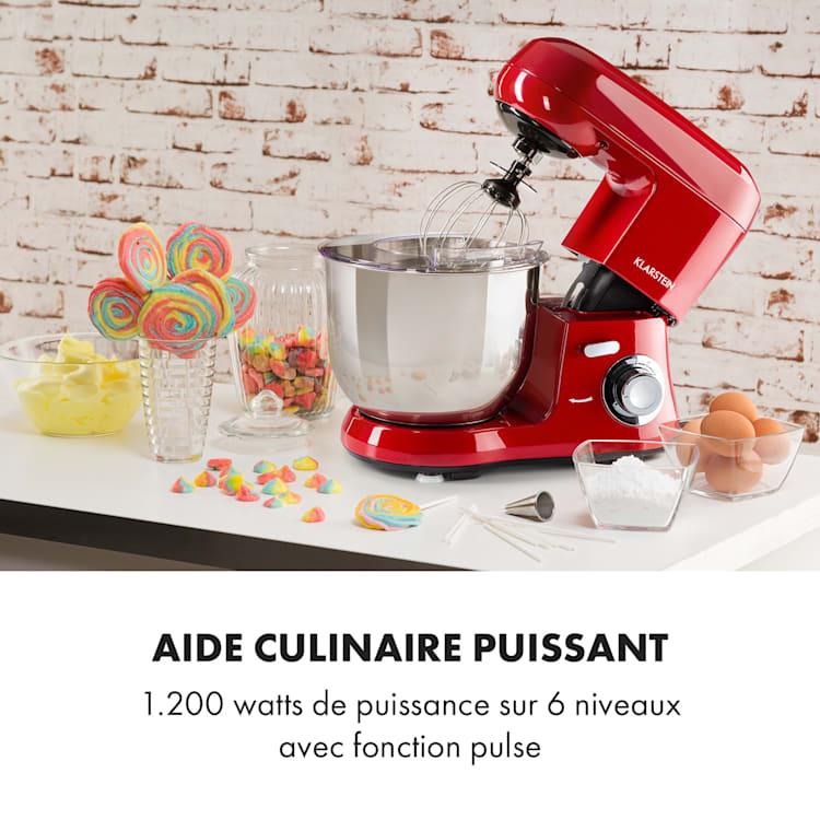 Bella Robusta Metal Robot de cuisine multifonction bol 5,5L 1200W - ro Rouge