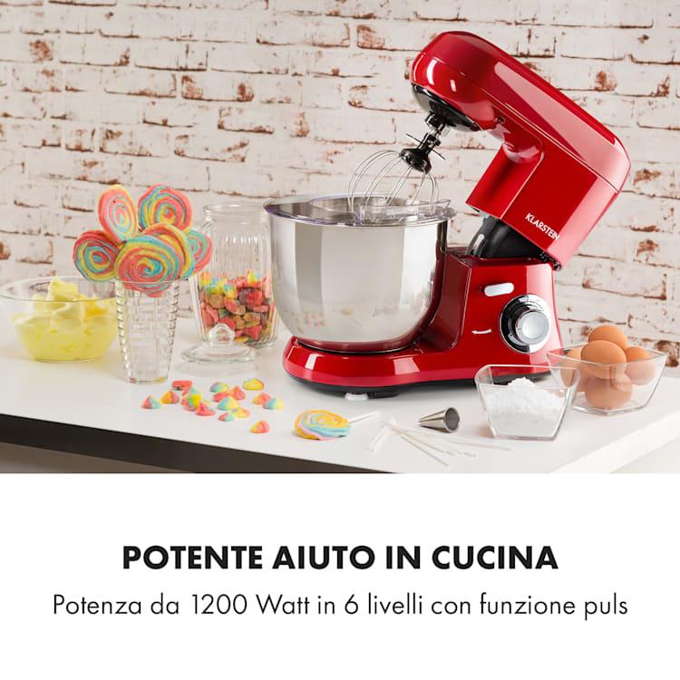 Bella Robusta Metal robot da cucina 1.200 W 6 livelli 5,5 litri rosso Rosso