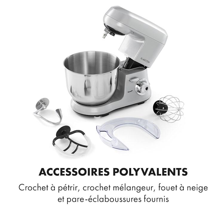 Bella Robusta Metal Robot de cuisine multifonction bol 5,5L 1200W - gr Gris