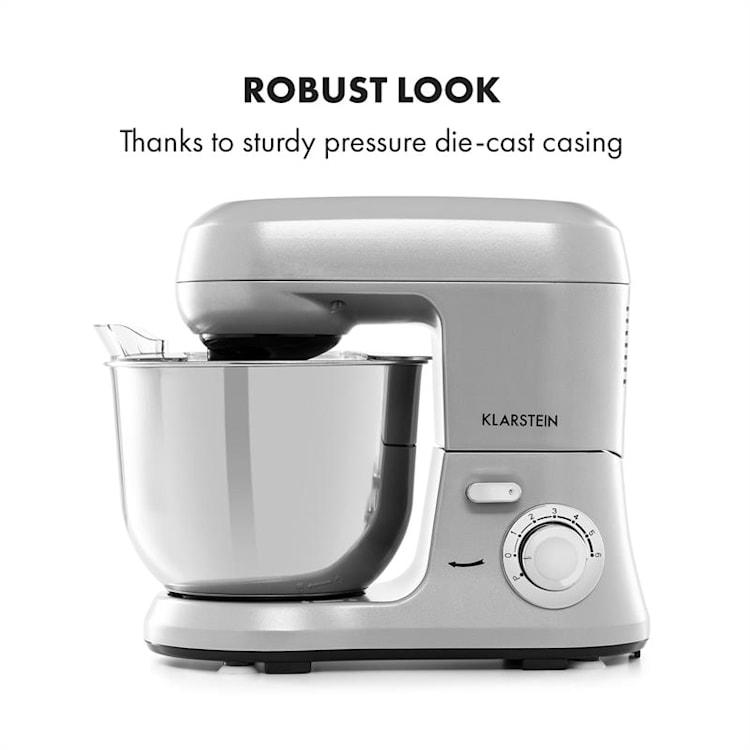Bella Robusta Metal, konyhai robotgép, 1.200 W, 6 teljesítményfokozat, 5,5l, szürke Szürke