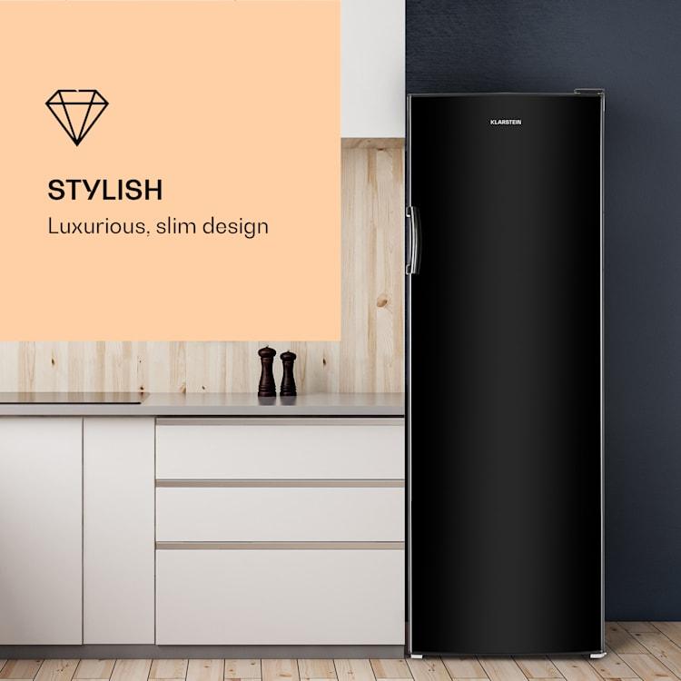 BigBoy koelkast 323l crispvak 6 schappen energieklasse A+ zwart 323 ltr