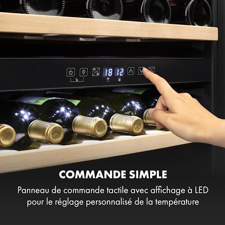 Vinsider 36 wijnkoelkast 2 koelzones 5-22°C 94l rvs