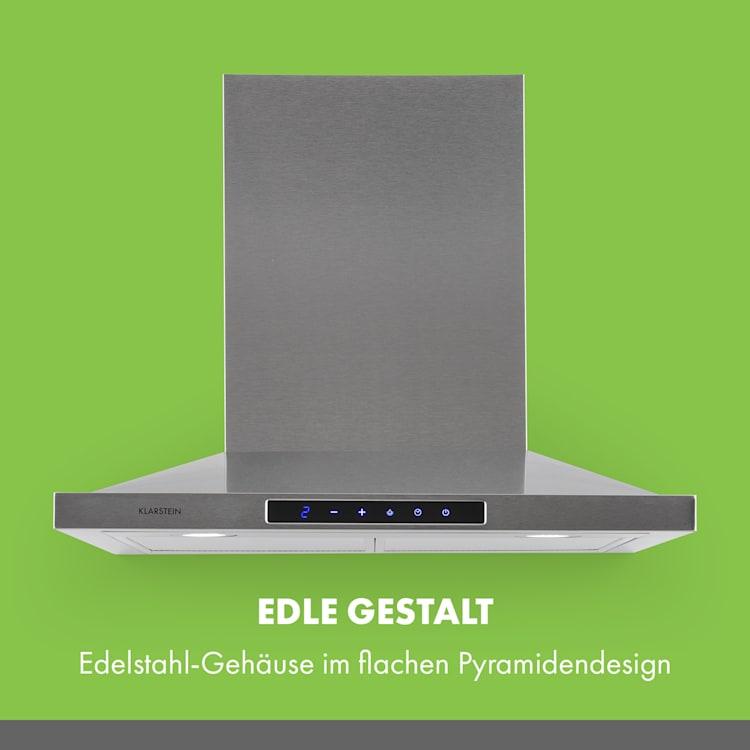 Eliana Dunstabzugshaube 60cm Pyramiden-Design 620m³/h Edelstahl 60 cm