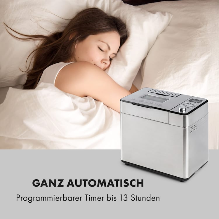 Brotilde Family Brotbackautomat 14 Programme LCD-Display Edelstahl