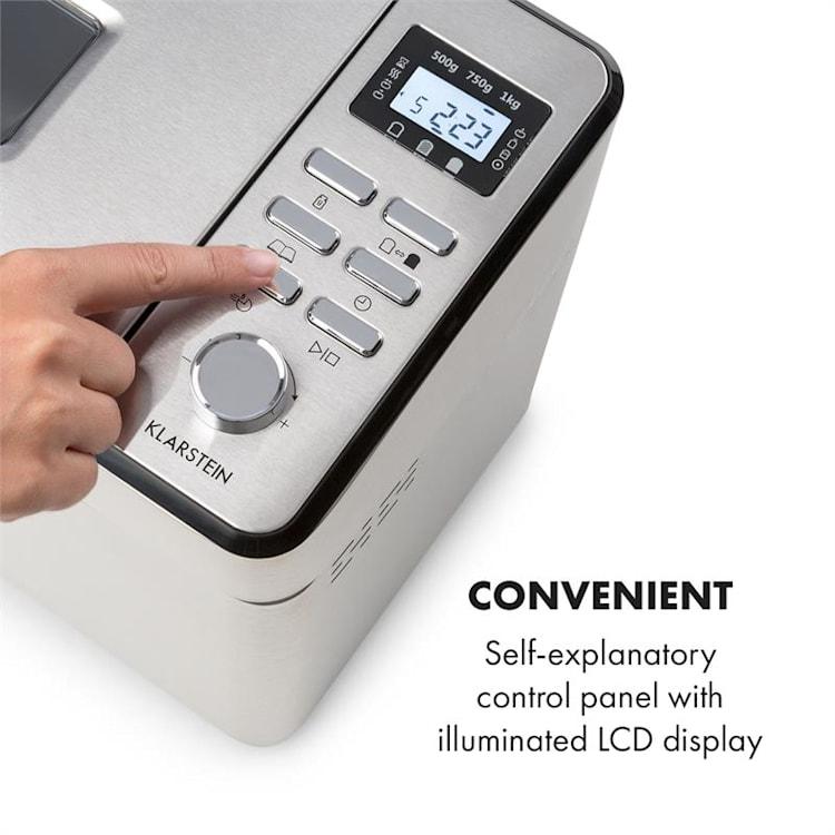 Brotilde Family, automat do pieczenia chleba, 14 programów, wyświetlacz LED, stal szlachetna