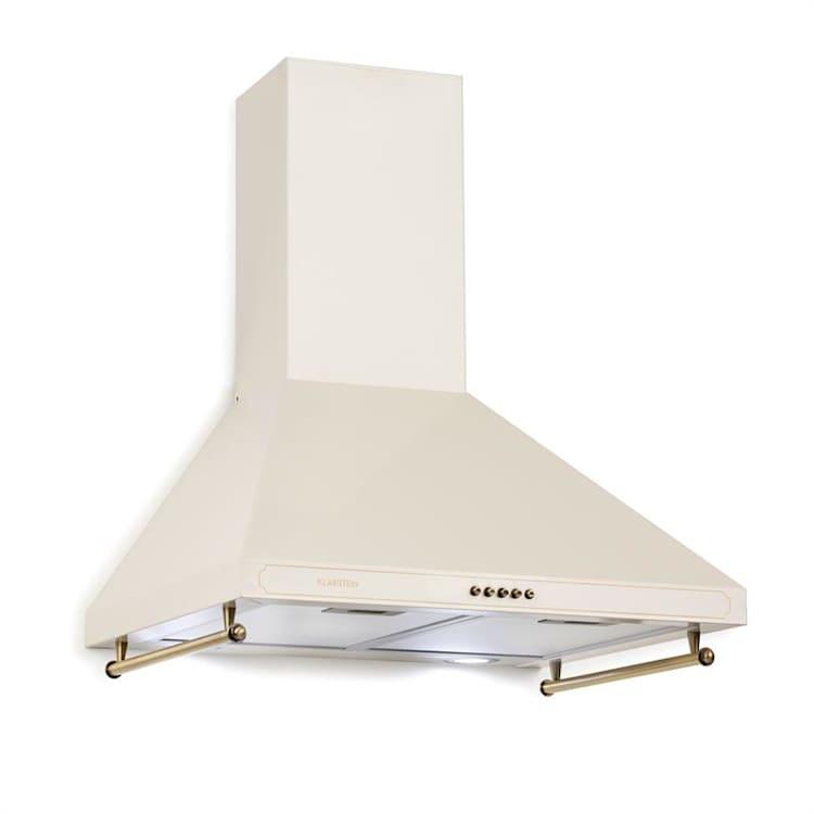 Victoria Hotte aspirante 60cm, design rétro, 645m³/h, LED, Ivoir Ivoire