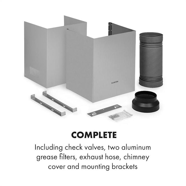 Maverick, kuhinjska napa, ugradbena, 70 cm, 400 m³/h, nehrđajući čelik, staklo, srebrna