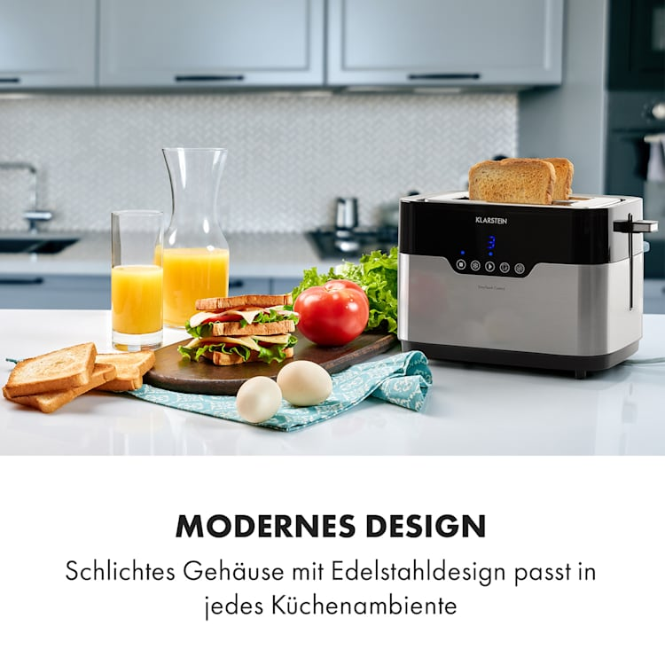 Arabica Toaster 920W LED-Display Touch-Bedienfeld Edelstahl